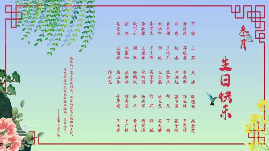 【安徽11选5走势图祝福】恭祝3月安徽11选5走势图的员工安徽11选5走势图快乐!